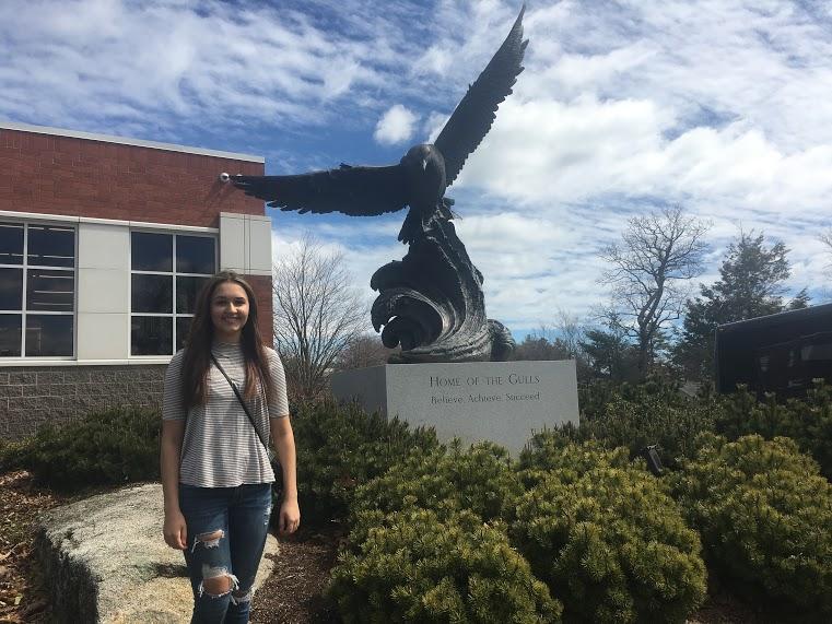 Brianna Marino will be attending Endicott University this Fall as a communications major. - photograph by Bridget LaSelva