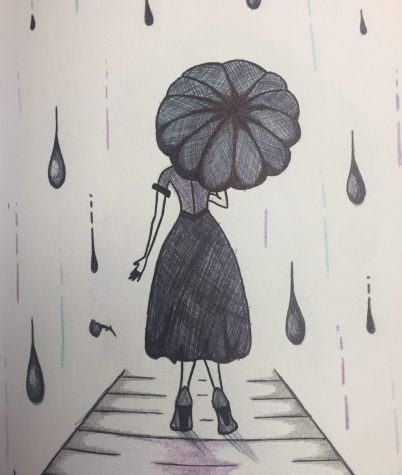 Emily Needham doesnt let class rain on her doodling parade.