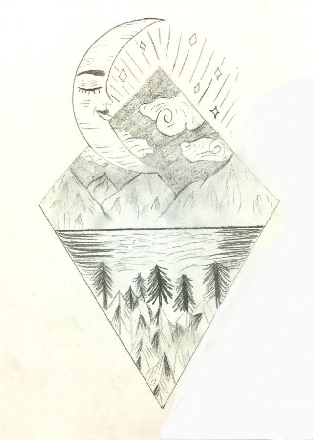 Peace - drawing by Renee Zeffiro