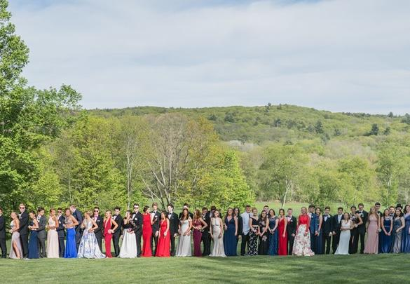 Some CHS students met up at a park in Canton to take pre-prom photos. Photograph by Noah OLeary