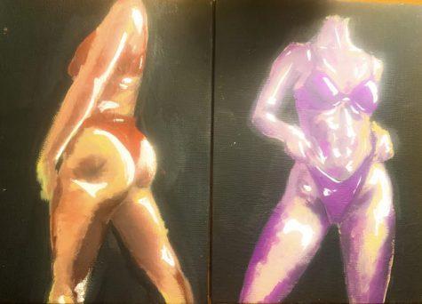 Girls are using art as a way to celebrate their bodies across social media platforms such as TikTok and Instagram. Artwork by Gabbie Marcuccio