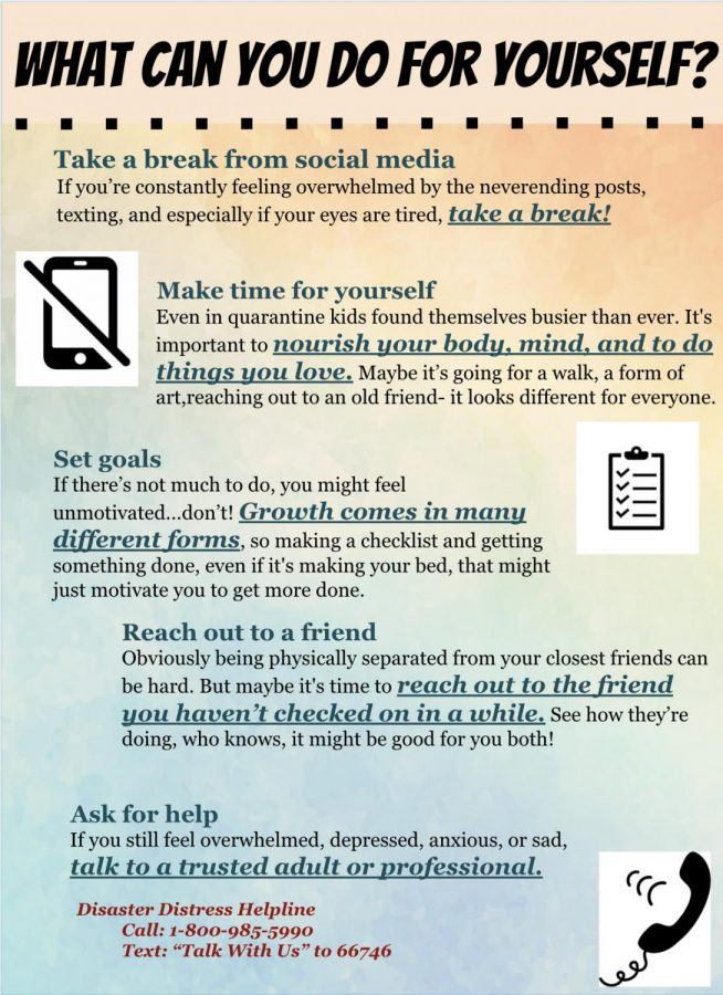 Its important to find strategies to alleviate stress. graphic by Grace Bilodeau